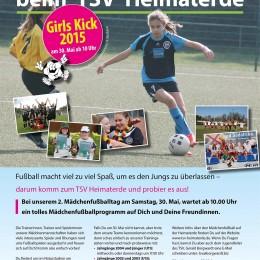 Am Samstag, 30. Mai, veranstaltet der TSV Heimaterde zum zweiten Mal einen Schnuppertag für fußballinteressierte Mädchen jeden Alters