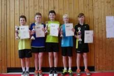 TSV bei Bezirkseinzelrangliste mit vier Turniersiegen