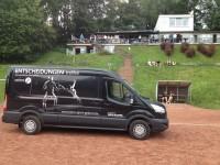 Tourbus vom Landessportbund am Finkenkamp