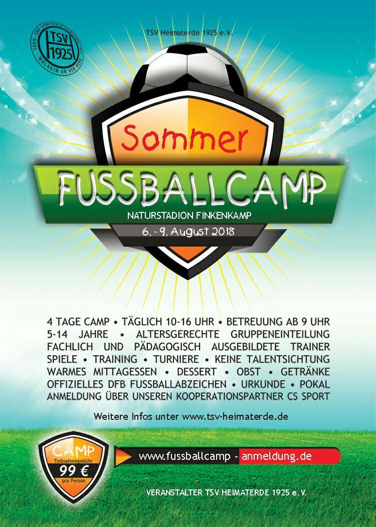 Fussballcamp Sommer 2018