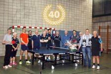 Abteilung Tischtennis feiert 40-jähriges